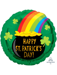"""17"""" St. Patrick's Day Pot of Gold Balloon"""