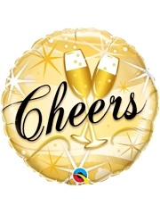 "18"" Cheers Starbursts Happy New Years Balloon"