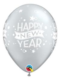 "11"" Silver Confetti Dots New Year Balloon"