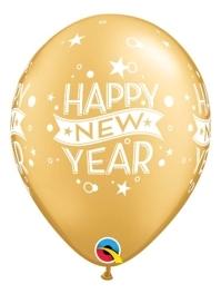 "11"" Gold Confetti Dots New Year Balloon"