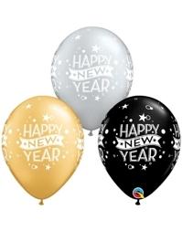 "11"" Confetti Dots New Year Balloon Assortment"