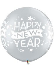 "30"" Silver Confetti Dots New Year Balloon"