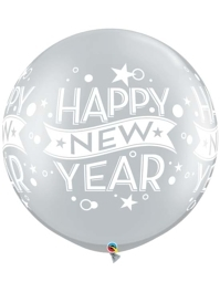 "30"" Silver Confetti Dots New Year Balloon"