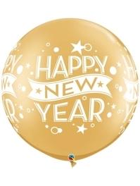 "30"" Gold Confetti Dots New Year Balloon"