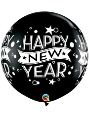 "36"" Black Confetti Dots New Year Balloon"