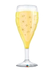 "39"" Bubbly Wine Glass New Years Balloon"