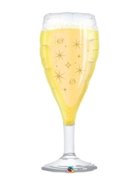 """39"""" Bubbly Wine Glass New Years Balloon"""