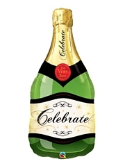 "39"" Champagne Bottle Congratulation Balloon"