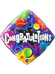 """18"""" Congratulations Party Time Balloon"""