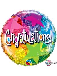 Congratulation Star Patterns Balloon