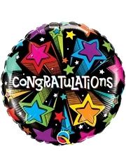 """18"""" Congratulation Shooting Stars Balloon"""