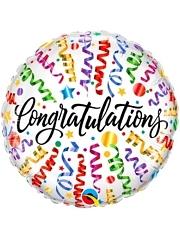 """18"""" congratulation Streamers Balloon"""