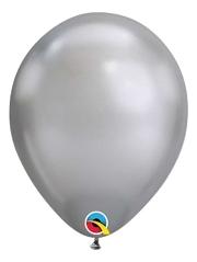 """11"""" Qualatex Chrome Silver Latex Balloon"""