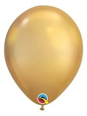 """11"""" Qualatex Chrome Gold Latex Balloon"""