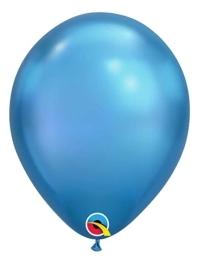 """11"""" Qualatex Chrome Blue Latex Balloon"""