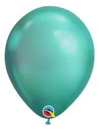 """11"""" Qualatex Chrome Green Latex Balloon"""