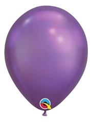 """11"""" Qualatex Chrome Purple Latex Balloon"""