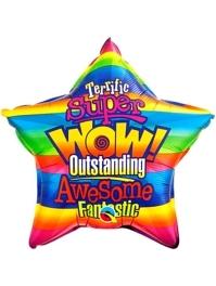 "20"" Wow Stripes Congratulations Balloon"