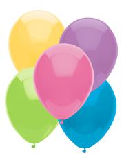 "11"" BSA Pastel Assortment Latex Balloons 100 Count"
