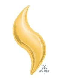"36"" Gold Curve Shape Balloon"