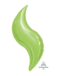 "36"" Lime Curve Shape Balloon"