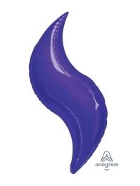 "36"" Purple Curve Shape Balloon"