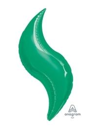 """36"""" Green Curve Shape Balloon"""