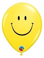 """5"""" Yellow Smiley Face Balloon 100 Count"""