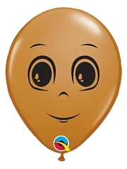 """5"""" Brown Masculine Face Balloon 100 Count"""