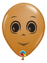 "5"" Brown Masculine Face Balloon 100 Count"