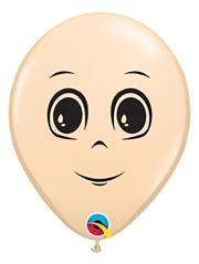 "5"" Blush Masculine Face Balloon 100 Count"