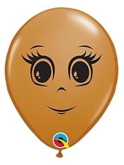 "5"" Blush Feminine Face Balloon 100 Count"