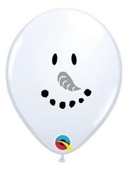 """5"""" Smiley Face Snowman Balloon 100 Count"""