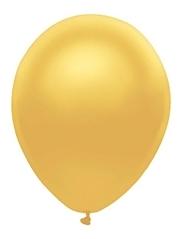 "11"" BSA Metallic Radiant Gold Latex Balloon 100 Count."