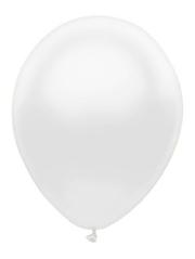 """11"""" BSA Silk White Latex Balloon 100 Count."""