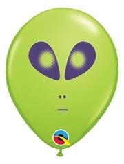"5"" Green Space Alien Balloon 100 Count"