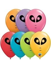"5"" Space Alien Balloon Assortment 100 Count"