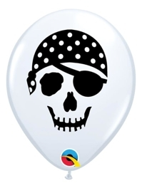 "5"" Pirate Skull Face Balloon 100 Count"