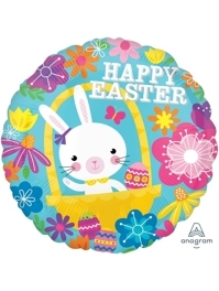 "17"" Easter Bunny Floral Easter Balloon"