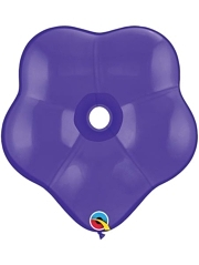 "6"" Qualatex Purple Violet GEO Blossom Balloon 50 Count."