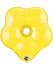"Qualatex 6"" Yellow Geo Blossom Balloon 50 Count."