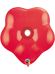 "6"" Qualatex Red GEO Blossom balloon 50 count."