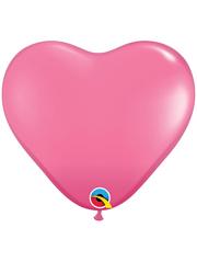 "6"" Qualatex Rose Heart Shape Latex Balloon 100 Count."