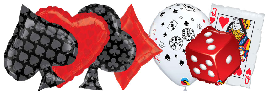 Casino Gambling Balloons Banner